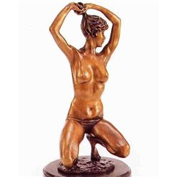 """Nude Dancer"" Bronze Sculpture - Colinet"