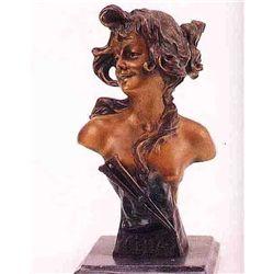 """""""Celia Bust"""" Bronze Sculpture - Vallanis"""