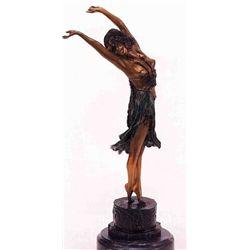 """""""Swaying Dancer"""" Bronze Sculpture - Colinet"""
