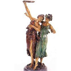 """Tambourine Girls"" Bronze Sculpture - Dumaige"