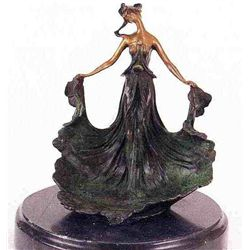 """Standing Jewelry Dish"" Bronze Sculpture - Carlier"