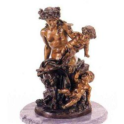 """""""Female Satyr Group"""" Bronze Sculpture - Clodion"""