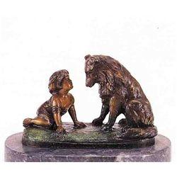 """Can't You Talk"" Bronze Sculpture - Ferrad"