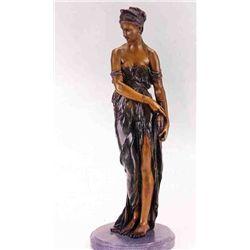 """Egyptian Girl"" Bronze Sculpture - Colinet"