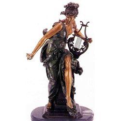 """Melodie"" Bronze Sculpture - Belleuse"