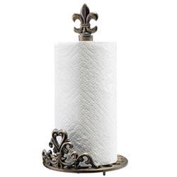 Fleur De Lis Paper Towel Holder
