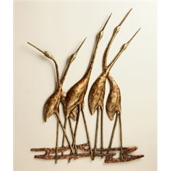 Crane Quintet Wall Sculpture