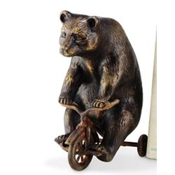 Bear On Trike Paperweight / Sculpture