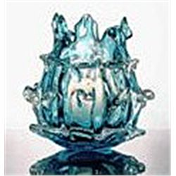 ART GLASS VOTIVE CANDLE HOLDER