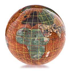 Kalifano Gemstone Globe Paperweight