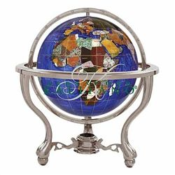 "Kalifano 9"" Commander Gemstone Globe"