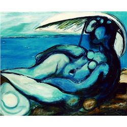 "Picasso ""Reclining Nude At Beach"""