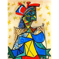 "Picasso ""Seated Woman With Red And Blue Hat"""