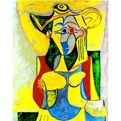 "Picasso ""Seated Woman With Yellow And Green"""