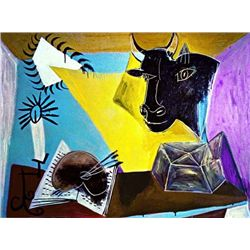 "Picasso ""Still Life With Candle,Palette And Black Bull's Head"""