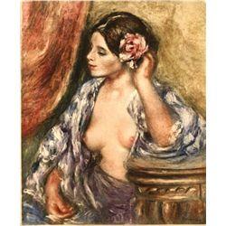 "Renoir  ""Femme A Sa Coiffure"" Etching"