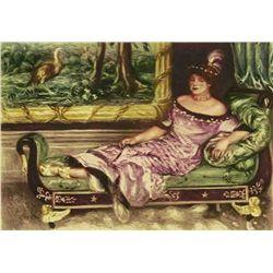 """Renoir  """"Portrait De Mme. De Galea"""" Etching"""