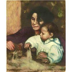 """Renoir  """"Gabrielle Et Jean"""" Etching"""
