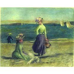 """Renoir  """"Sur Le Bord De La Mer"""" Etching"""