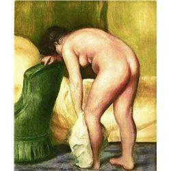 """Renoir  """"Apres Le Bain"""" Etching"""