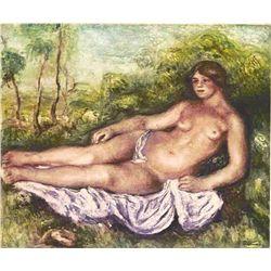 """Renoir  """"Femme Nue Etendue"""" Etching"""
