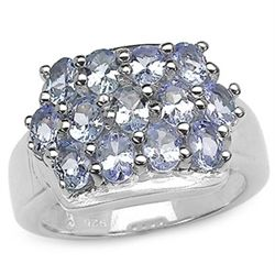 2.21 Carat Tanzanite .925 Sterling Silver Rings
