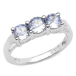 0.42 Carat Genuine Tanzanite .925 Sterling Silver Ring