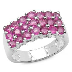 0.56 Carat Genuine Ruby .925 Sterling Silver Ring