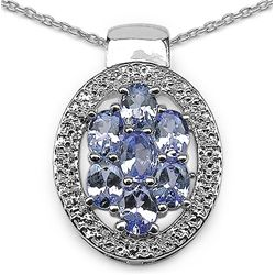 1.19 Carat Genuine Tanzanite .925 Sterling Silver Pendant