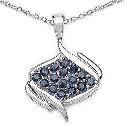1.44 Carat Genuine Blue Sapphire .925 Sterling Silver Pendant