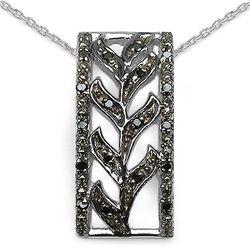 0.10 Carat Genuine Black Diamond .925 Sterling Silver Pendant