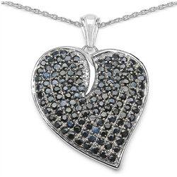 6.00 Carat Genuine Sapphire .925 Sterling Silver Pendant