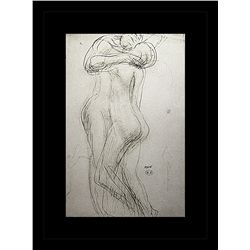 Rodin Erotic Sketch Lithograph