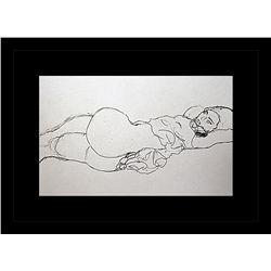 Gustav Klimt Erotic Sketch Lithograph
