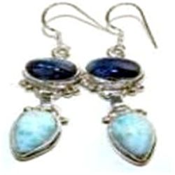 Larimar & Kyanite Earrings