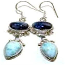 Larimar & Kyanite Earrings