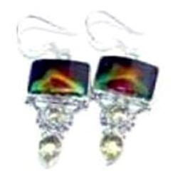 Agate & Citrine Earrings
