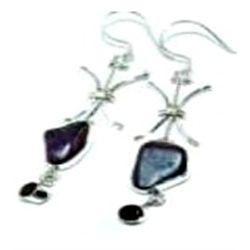 Agate & Smokey Quartz Earrings