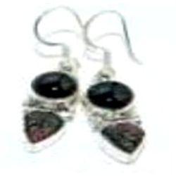 Tourmaline & Carved Stone Earrings