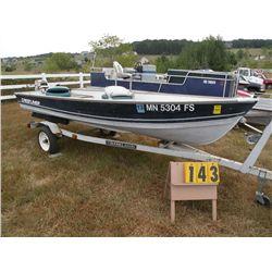 1990 Crestliner 14 ft boat NOR27387K990