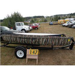 """2009 Warrior 13' 6"""" canoe- camo PU0S1013H809"""