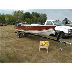 1983 Crestliner 16 ft boat NOR03732M83H