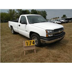 2005 Chev 1500 2x4 1GCEC14V25E188216