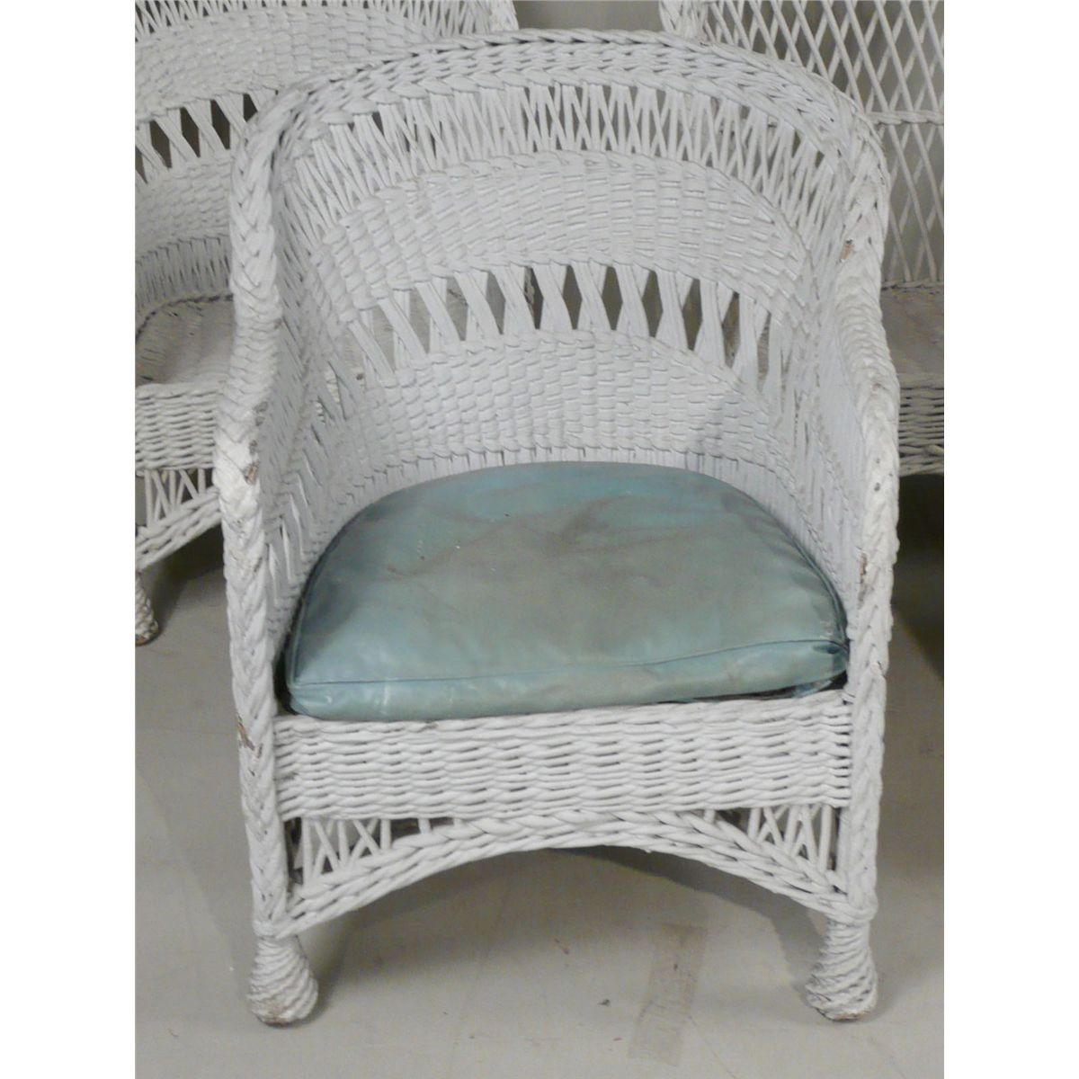 Admirable Group Of Victorian White Painted Wicker Furniture 19Th 20Th Cjindustries Chair Design For Home Cjindustriesco