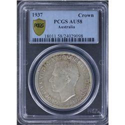1937 Crown PCGS AU58