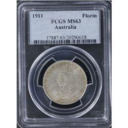 1911 Florin PCGS MS63