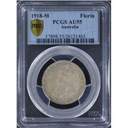 1918 Florin PCGS AU55
