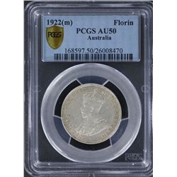 1922 Florin PCGS AU50