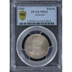 1925 Florin PCGS MS63