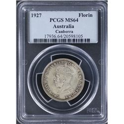 1927 Canberra Florin PCGS MS64